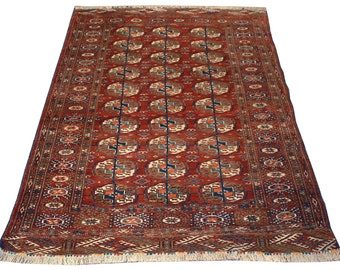 38x57 antique persian turkoman rug home decor oriental rugs area