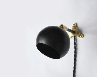 modern wall lamp marylou black plug in wall sconce mid century modern