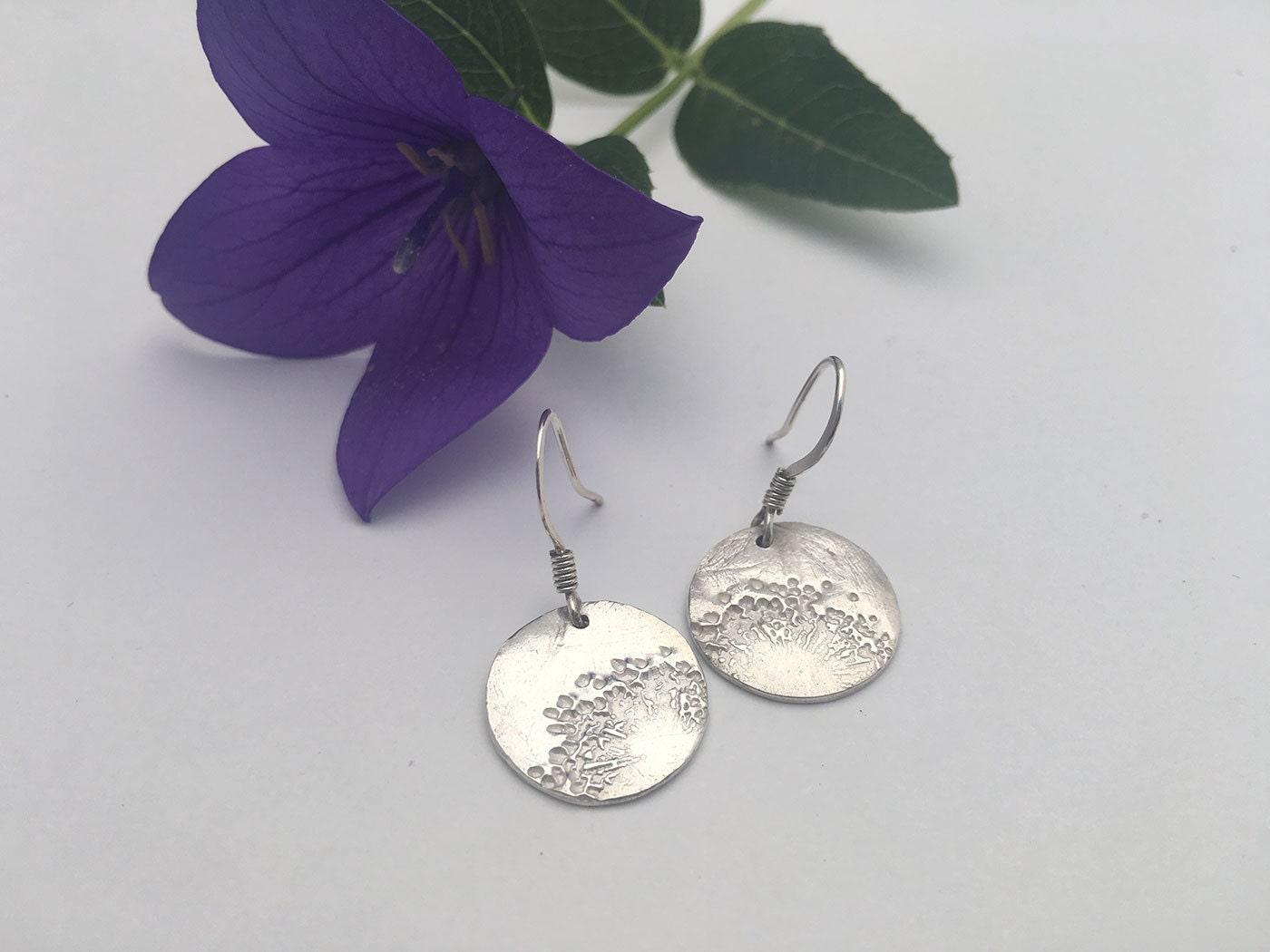 dandelion earrings silver dandelion earrings dandelion
