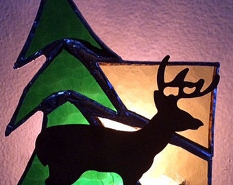 Stained Glass Woodlands Nightlight