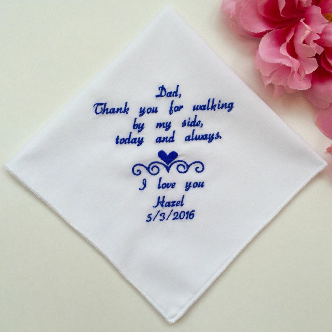 Wedding Handkerchief For Dad Wedding Handkerchief