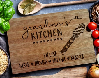 GRANDMA KITCHEN Custom Cutting Board, Personalized cutting Board, Chopping Board, Cheese board (139)