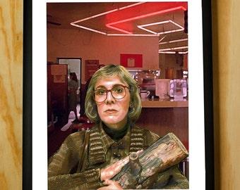 Twin Peaks Log Lady Color Pencil Portrait Poster Print