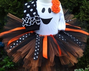 Halloween Tutu, Ghost Costume, Ghost Outfit, Halloween Costume, Black Orange, Tutu, Toddler Costume, Baby Costume, Halloween Tutu Outfit