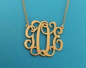 Mongram Necklace Gold Filled Monagrm Necklace Monogram Necklace Monogramed Necklace Monogram Chain Necklace Name Gold field Monogrm Gifts