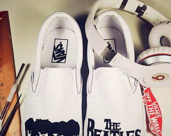 Hand Painted Beatles Shoes