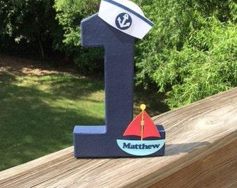 Nautical Theme Birthday Number Decoration