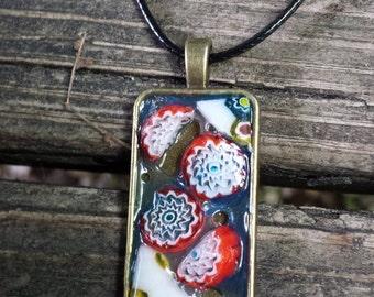 Pendant Necklace, Mosaic