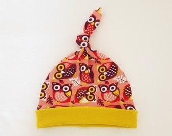 Knotted Newborn Hat (Organic Cotton)