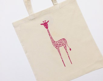 Giraffe Tote Bag With Optional Personalisation