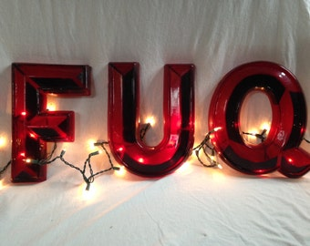 "12"" Vintage Marquee Letters (Red)"