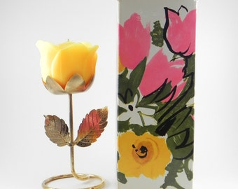 FREE SHIPPING Unique Vintage Avon Collectible Sunshine Rose Candle Holder Retro Vintage Style Old Avon New Old Stock Cheratiques ItemAW370