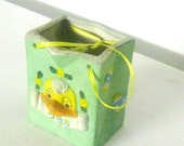 bag gift porcelain Disney design chicken children relief ceramic Pocket box jewelry box decoration Germany green Mint girl