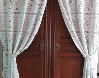 franz sische spitze gardinen etsy. Black Bedroom Furniture Sets. Home Design Ideas