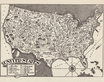 United States Wall Art map of united states | etsy