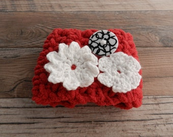 Red Flower Cup Cozy