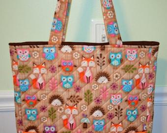 Owl and Fox Tote Bag