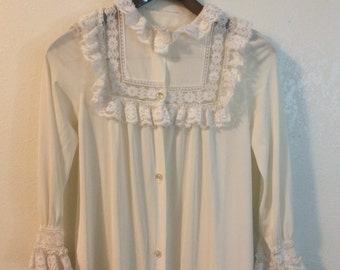 Lace White Robe / Lace Lingerie / Lace Pajama Dress / Bohemian Romantic Lingerie Robe
