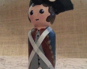 American Revolution soldier peg figure