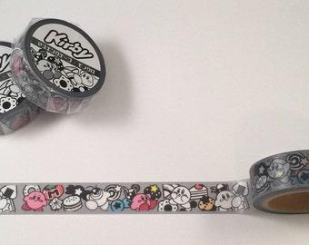 Kirby washi tape - 15mmx7m - 1 roll - black