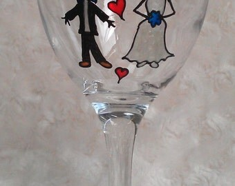 20 x Wedding Wine Glasses - Wedding Favours - Made to order