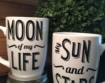 Moon of My Life My Sun and Stars Mug Set || Khaleesi Khal Drogo Love Story