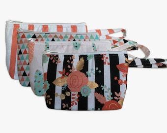 Assorted Print Makeup Bags // Gift Set of 4 // Bridesmaid Gift Set