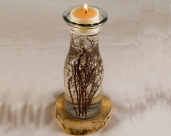 Twig Vase Candle Holder, Rustic Wedding Candle Holder, Wedding Candles, Glass Candle Holder, Wedding Vase, Wedding Decor, Wedding Table