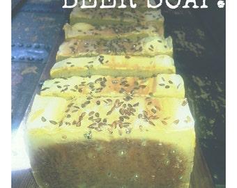 BEER SOAP All Natural Soap, Handmade Soap, Cold Process Soap, Vegan Soap