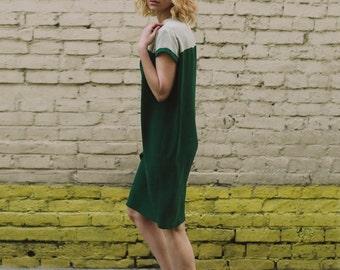 Silk dress, Green dress, Green silk dress, women dress