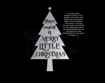 Have Yourself a Merry Little Christmas Matching Family Children's Iron On Kid's Christmas Iron On Vinyl Iron On Decal Vinyl for Shirt