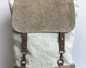 Handmade in Canada / Jute / Backpack / Size 12x11""