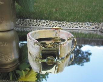 Floral dog collar, Vintage inspired dog collar, Yellow dog collar, Girl dog collar
