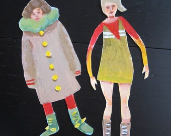 Painted paper figures