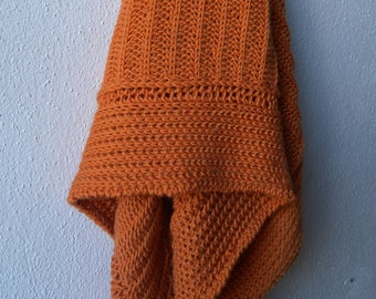 Shawl Knitting Pattern, brioche pattern, prayer shawl, tuck stitch, easy knit wrap for women, knit shawl, triangle scarf, sport weight yarn