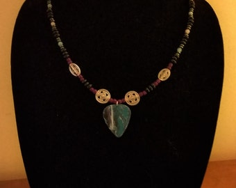 Hydrodipped Guitar Pick Jewelry Set #17
