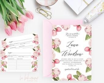 Printable Bridal Shower Invitation /  Shower Invite, Wedding Shower  - Lana