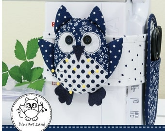 OWL PINCUSHION SEWING Pattern. owl pattern. owl patchwork. owl pincushion pattern. owl pincushion. pdf sewing pattern. © Blue Owl Land