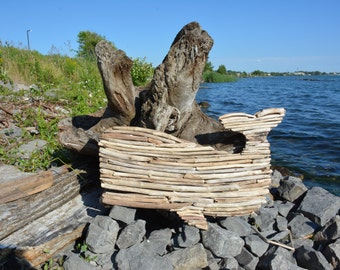 Driftwood Whale Wall Decor - Handmade