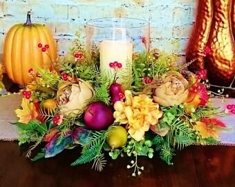 Silk Table Centerpiece for Fall Free Shipping, Table Centerpieces, Thanksgiving Centerpieces, Fall Centerpieces, Home Decor Fall   A108