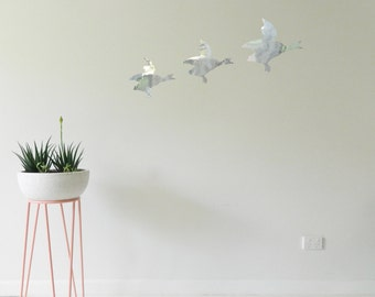FLYING DUCKS Wall Sticker, Removable Decal, Made In Australia