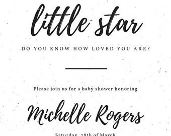 Custom Baby Shower Invitation- Digital File Printable