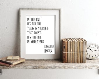 Abraham Lincoln Quote Printable - Downloadable File