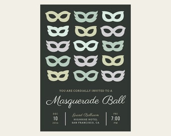 Masquerade Ball Custom Invitation