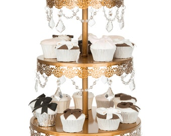 3 Tier cupcake stand in Gold