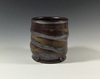 Brown Cup - Ceramic Barware - Old Fashioned Cup - Lowball - Rocks Cup - Wine Cup - Handmade Pottery