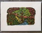 Wildcat - Woodcut Print, Woodblock Print by Tugboat Printshop