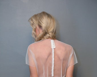 NEW Button Back Sheer Tulle Bolero - Custom Colors