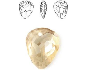 Swarovski 6190 Large Rock Pendant Crystal in Golden Shadow - 35mm