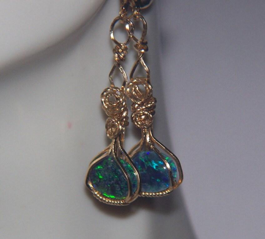 australian opal earrings genuine triplet colorful leverback